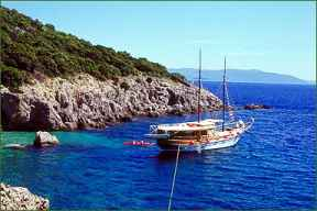 Adriatic coast Krk Croatia