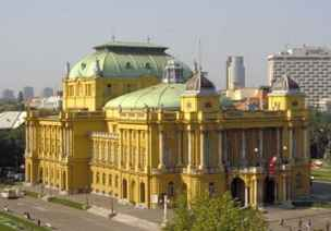 The Opera House in Zagreb, Croatia