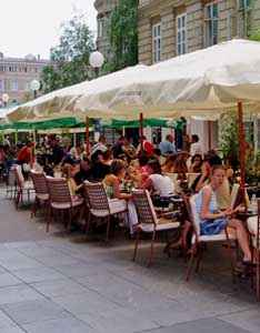 Cafe culture in Zagreb